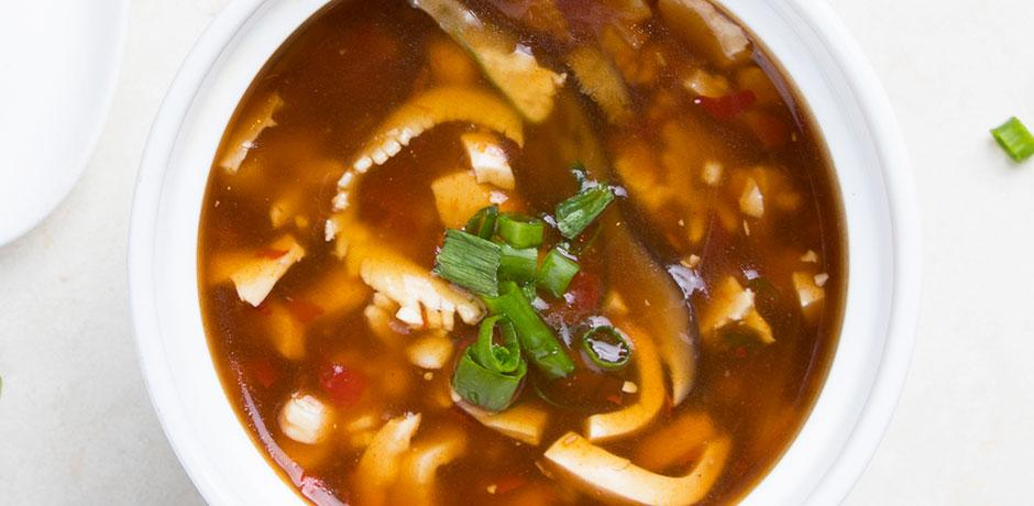HOT & SOUR SQUID THICK NOODLE SOUP | The Night Market